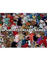 50 Ty Beanie Babies Assorted Wholesale Lot. New With Tags! Perfect For Carnival Prizes Or Goody Bags!