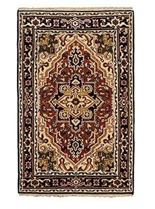 Hand-Knotted Royal Heriz Wool Rug, Copper, 3' 10