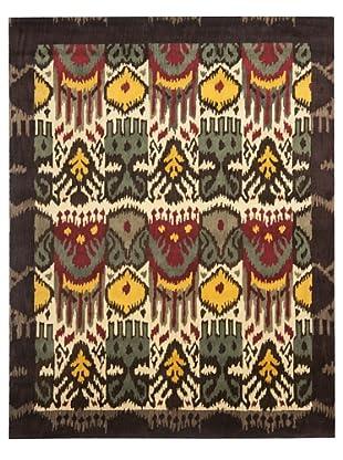 Safavieh Hand-Tufted Wool Ikat Rug (Creme/Brown/Multi)