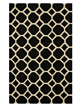 Momeni Honey Comb Rug, Black, 5' x 7' 6