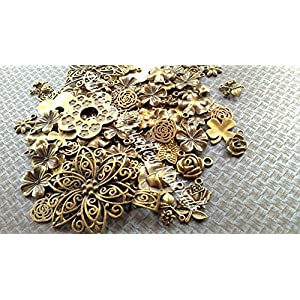 Imported Antique Bronze Flower Tibetan pendants
