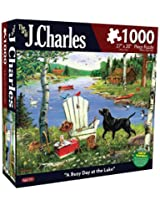 Karmin International J. Charles A Busy Day at The Lake Puzzle (1000-Piece)