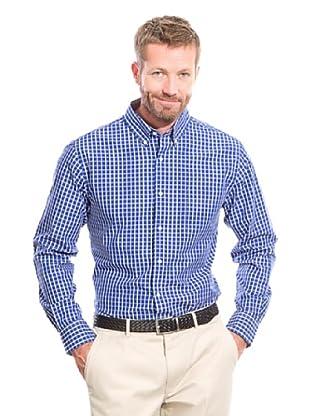 Cortefiel Camisa Cuadro (Azul Marino)