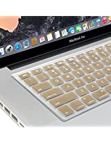 GMYLE Champagne Gold Keyboard Cover for Macbook Air Pro 13 15 15 Pro Retina 17 US model - Keyboard Skin Protector