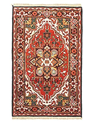 Hand-Knotted Royal Heriz Wool Rug, Vivid Red, 3' x 5'