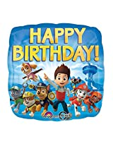 Anagram International Hx Paw Patrol Happy Birthday Packaged Party Balloons, Multicolor By Anagram International