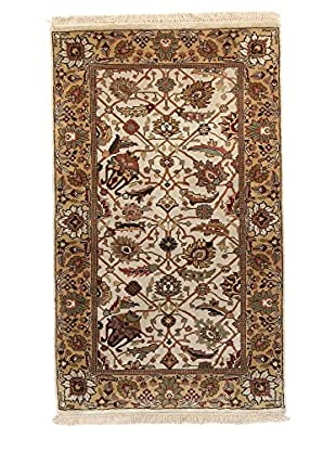 F.J. Kashanian One-of-a-Kind Hand-Knotted Hajalily Rug, Ivory/Gold, 3' x 5'