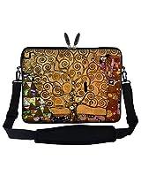 Meffort Inc 15 15.6 inch Neoprene Laptop Sleeve Bag Carrying Case with Hidden Handle and Adjustable Shoulder Strap - Klimt Tree of Life