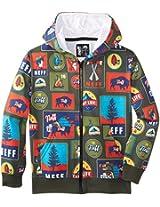Neff Big Boys' Charlie Zip Up Sweatshirt