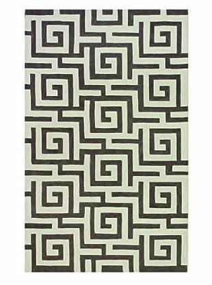 Dalyn Infinity Geometric Rug, Pewter (Pewter)
