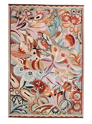Roubini Art Deco Hand Knotted Wool & Silk Rug, Multi, 6' x 9'