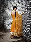 Jiya Sharma Yellow Anarkali Suits