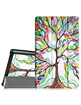 Fintie Verizon Ellipsis 8 Slim Shell Case Cover - Ultra Slim Lightweight Stand for Verizon Ellipsis 8 4G LTE Tablet, Compatible With Verizon Ellipsis Kids, Love Tree