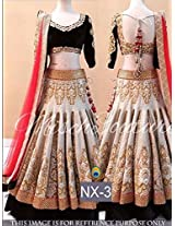 pushty fashion hevy work embroidery mastani semistiched lahenga choli
