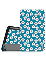 """Fintie Samsung Galaxy Tab E 8.0 Case - Ultra Slim Lightweight Standing Cover for Samsung Galaxy Tab E 8"""" (Sprint / US Cellular) SM-T377 4G LTE 8-Inch Tablet, Floral Blue"""