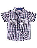 FS Mini Klub Boys Cotton Short Sleeve Shirt (83365Tpinkplaid18-24M_2 Pink Plaid, 18-24 Months)