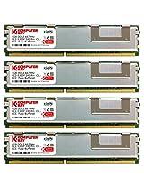 Komputerbay 16GB (4x 4GB) DDR2 PC2-5300F 667MHz CL5 ECC Fully Buffered FB-DIMM (240 PIN) 16 GB w/ Heatspreaders