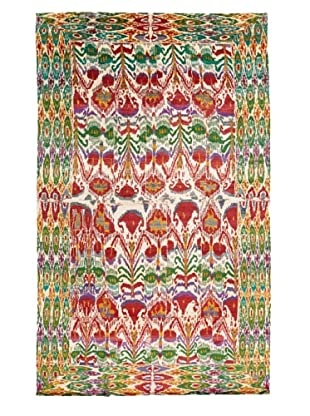 Silk Hand-Knotted Ikat Rug (Multi)