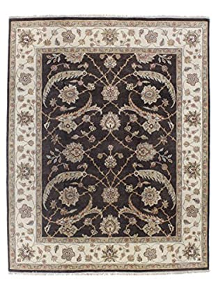 Bashian Rugs One-of-a-Kind Hand Knotted Agra Rug, Chocolate, 8' 1