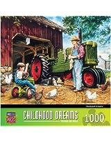 1000-Piece Barnyard Dreams Puzzle Art by Dan Hatala