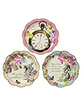 Talking Tables Truly Alice Mad Hatter Tea Party Plates for Parties/Wedding, Mixed (12 Pack)