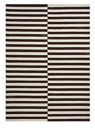 Jaipur Rugs Line Dance Indoor/Outdoor Rug (Chocolate/White)