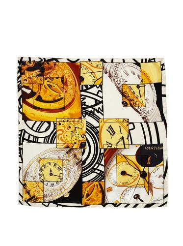Cartier Women's Watch Scarf, Gold/White