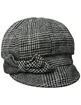 San Diego Hat Company Women's Wool Cap with Self Fabric Bow