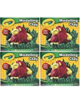 Crayola Modeling Clay Four 1/4 Lb Pieces, Red/Yellow/Blue/Green (Pack Of 4)