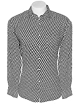 Cairon Black Check Casual Shirt Sf-C5818_A