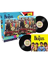 Aquarius Beatles SGT Sided Shaped Puzzle (600 Piece), Pepper/Yellow