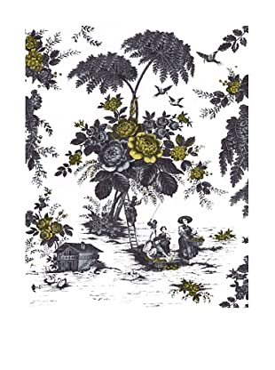 French Linen Collection Grey & Yellow Toile Tapestry