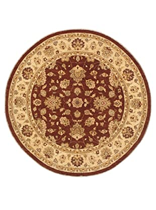 Rug Republic One Of A Kind Hand Knotted-Chobi Rug, Burgundy/Brown/Neutral/Multi, 7' Round