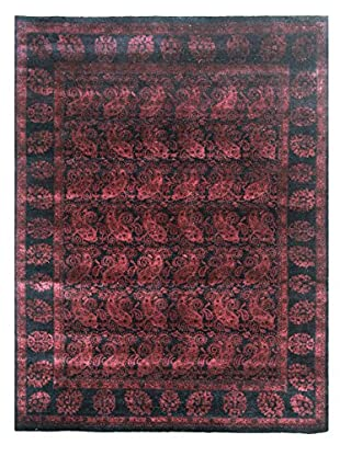 nuLOOM One-of-a-Kind Hand-Knotted Vintage Overdyed Area Rug, Dk Burgundy, 6' x 8'