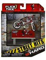 """Haro Bikes & Bus Bench: Flick Trix Street Hits ~4"""" BMX Finger Bike Playset"""