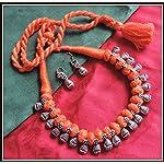 [N16O_016] Orange Thread Necklace 02