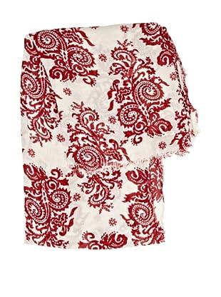 Cortefiel Foulard Estampado Cerámica (Rojo)