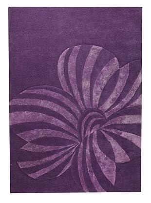 MAT the Basics Jasmine Hand-Carved & Tufted Rug (Violet)