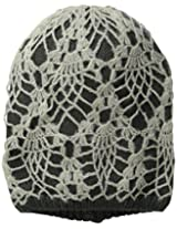 D&Y Women's Crochet Two-Layer Beanie