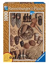African Artifacts 1000 Piece Wooden Structure Puzzle