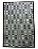 "24"" x 36"" Black & Silver Bamboo 2x3 AREA Rug CARPET FLOOR Mat with Backing"