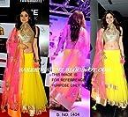Bollywood Inspired- Shamita Shetty Yellow Colour Net Lehenga