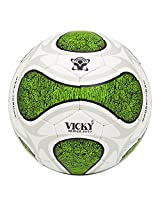 Vicky Challenger Football, Size 5   (White/Green)