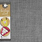 Canvas  Unsewn Burlap Sheet  Jute, 12-Inch by 12-Inch, Gray