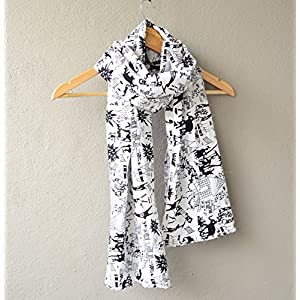 Madhurima Bhattacharjee Black and White Printed Scarf