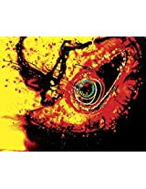 Faim Paintings Abstract Art Inferno Canvas Print 28x22 Frameless