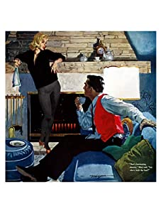"""Saturday Evening Post """"That's Fascinating, Sweetie..."""", 35"""" x 35"""""""