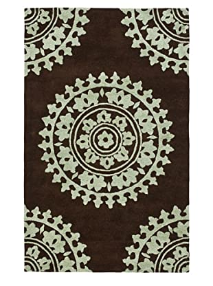 Soho Rugs Pattern (Brown/Teal)