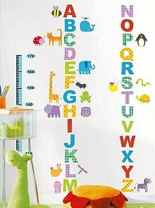 Ambiance Sticker Wandtattoo Alphabet And Animals (Kidmeter)