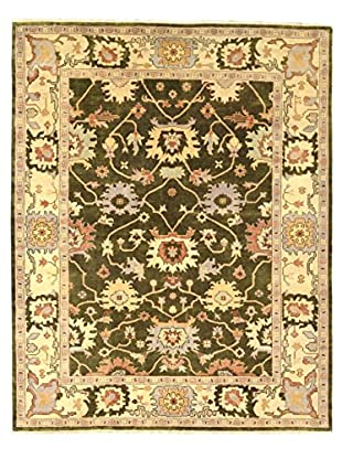 nuLOOM One-of-a-Kind Lon Hand-Knotted Rug, Green, 8' 3